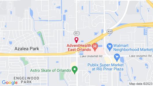 WoodSpring Suites Orlando East Map