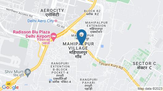 Airport Hotel Aerocity Trio Express Map