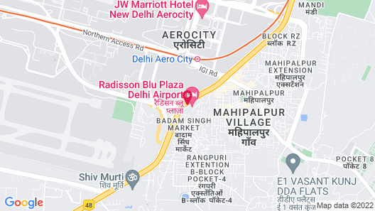 Radisson Blu Plaza Delhi Airport Map