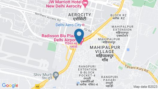 Radisson Blu Plaza Delhi Airport Map