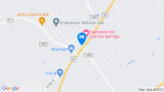 Hampton Inn Carrizo Springs Map