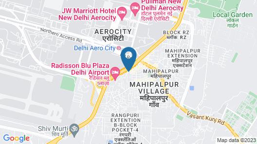 Hotel Delhi Airport Plaza Map