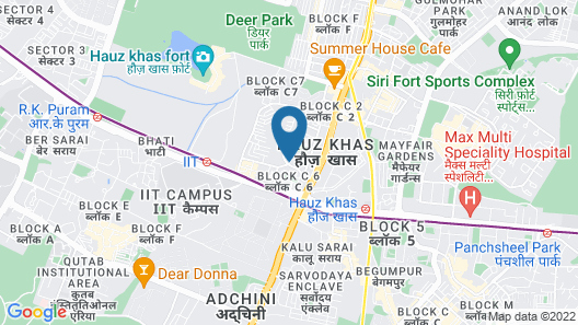 Beautiful flat in Hauz Khas  close to important land marks in NewDelhi Map