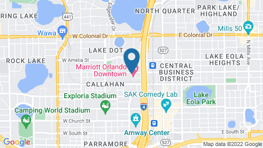 Marriott Orlando Downtown Map