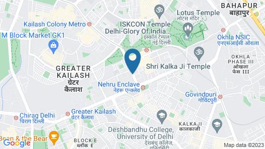 Shervani Hotel Nehru Place Map