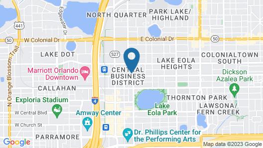 Hilton Garden Inn Orlando Downtown Map