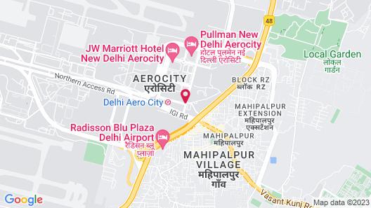 Red Fox Hotel, Delhi Airport Map