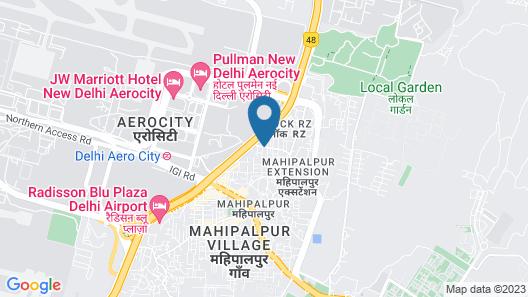 Hotel Trans International Delhi Map
