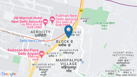 FabHotel Transit Delhi Airport Map