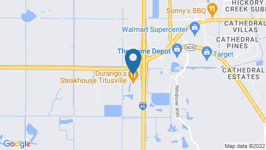 Quality Inn Kennedy Space Center Map