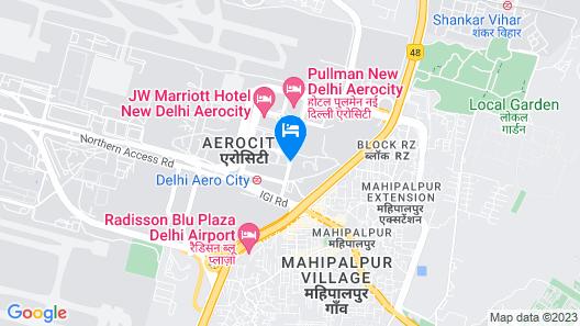 Holiday Inn New Delhi International Airport Map