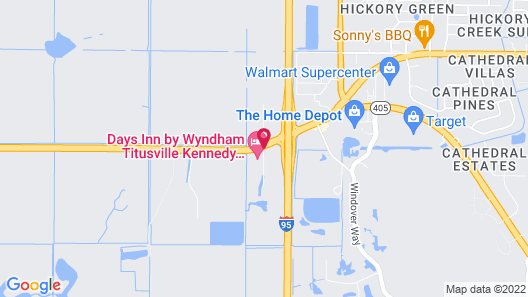 Days Inn by Wyndham Titusville Kennedy Space Center Map
