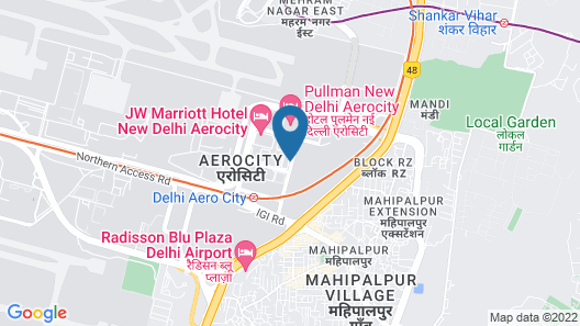ibis New Delhi Aerocity Hotel Map