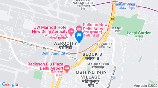 ibis New Delhi Aerocity Hotel Map