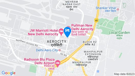 Aloft New Delhi Aerocity Map
