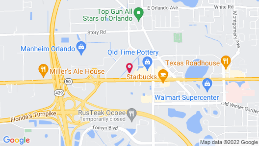 OYO Townhouse Orlando West Map