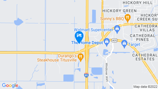 Hampton Inn Titusville/I-95 Kennedy Space Center Map