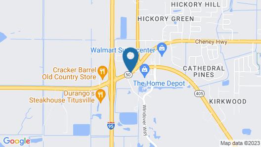 Best Western Space Shuttle Inn Map