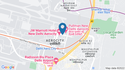 JW Marriott Hotel New Delhi Aerocity Map
