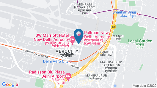 Novotel New Delhi Aerocity Hotel Map