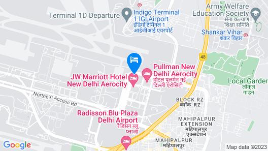Andaz Delhi - a concept by Hyatt Map