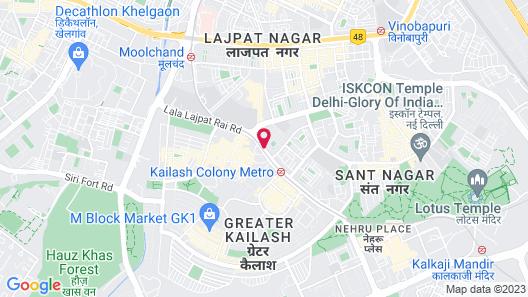 The Legend Inn - New Delhi Map