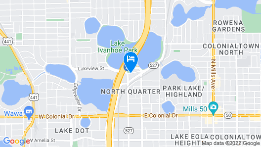 DoubleTree by Hilton Orlando Downtown Map
