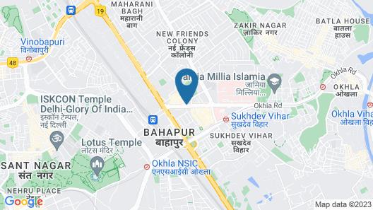 The Suryaa New Delhi Map
