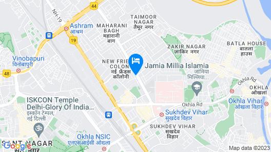 Treebo Royce, New Friends Colony Map