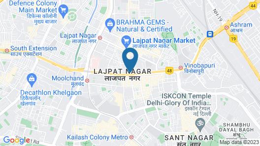 Karon Hotel - Lajpat Nagar Map