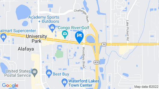 HomeTowne Studios by Red Roof Orlando - UCF Area Map