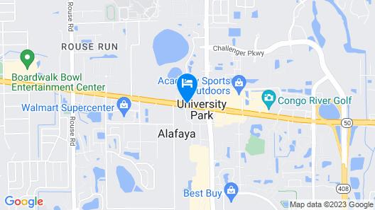 Days Inn & Suites by Wyndham Orlando East UCF Area Map