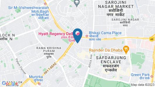 Hyatt Regency Delhi Map