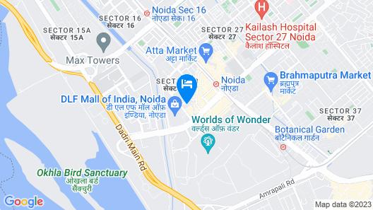 Radisson Blu Hotel Noida Map