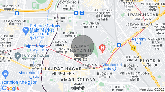 Posh South Delhi Foreigners Area, Cream Location and Very Safe for Females Map