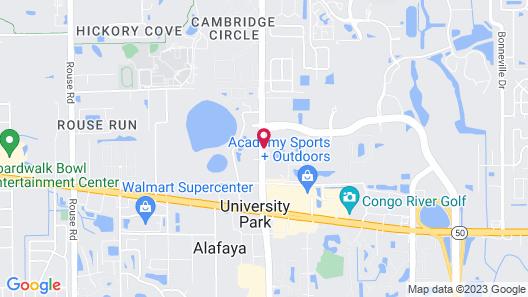 Hilton Garden Inn Orlando East/UCF Map