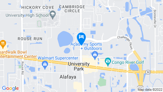 Hilton Garden Inn Orlando East/UCF Map