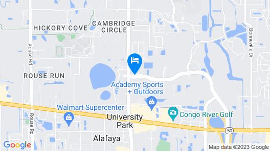 Comfort Suites UCF/Research Park Map