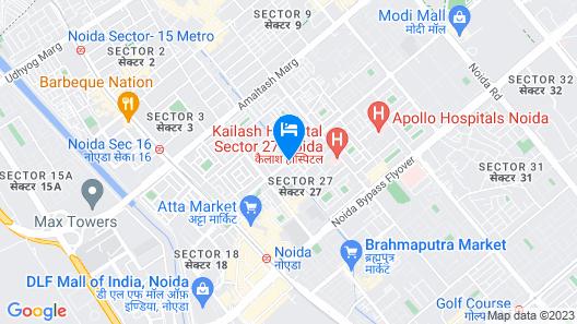 Fortune Inn Grazia, Noida - Member ITC Hotel Group Map