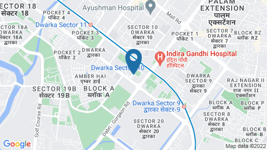 WelcomHotel Dwarka - Member ITC Hotel Group Map