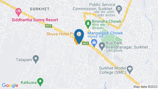 Suva Hotel Map
