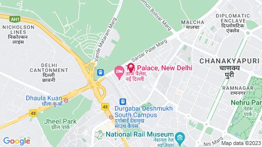 ITC Maurya, a Luxury Collection Hotel, New Delhi Map