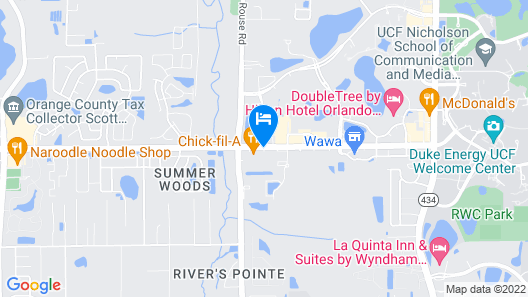 Intown Suites Extended Stay Select Orlando UCF Map