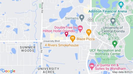 Hampton Inn & Suites Orlando/East UCF Area, FL Map