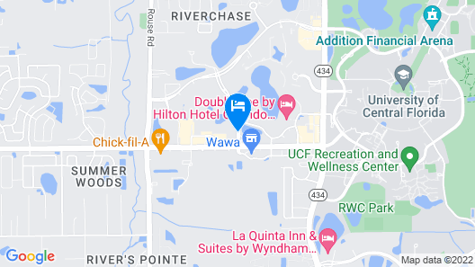 Hampton Inn & Suites Orlando/East UCF Area, FL Map