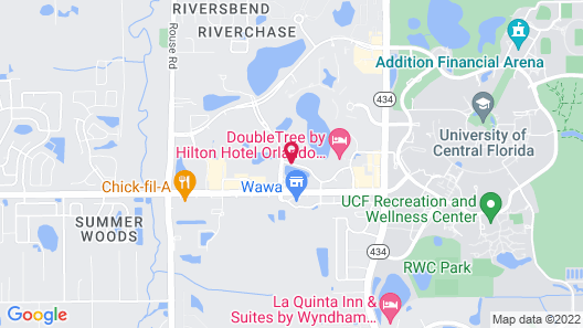 TownePlace Suites by Marriott Orlando East/UCF Area Map