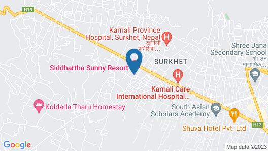 Shani Village Resort Map