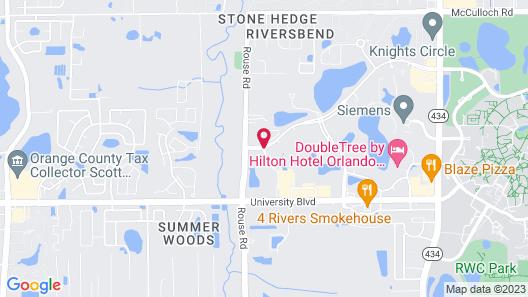 Fairfield Inn & Suites by Marriott Orlando East/UCF Area Map