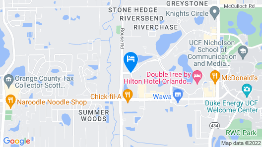 Fairfield Inn & Suites by Marriott Orlando East/UCF Area Map