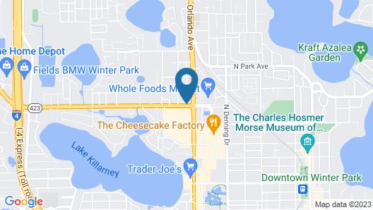 Hilton Garden Inn Winter Park Map